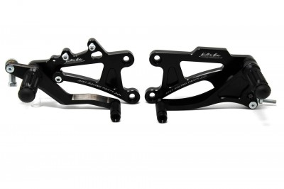 VALTER MOTO T1 FIXED REARSETS RS250 95-02 IN BLACK image
