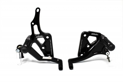 VALTER MOTO T1 FIXED REARSETS YZF-R1 04-06 IN BLACK image