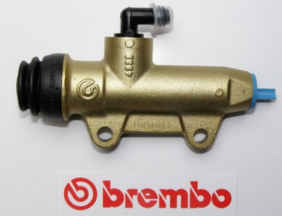 BREMBO REAR BRAKE 11mm MASTER CYLINDER 40MM LUGS OUTLET INLINE *GOLD* image