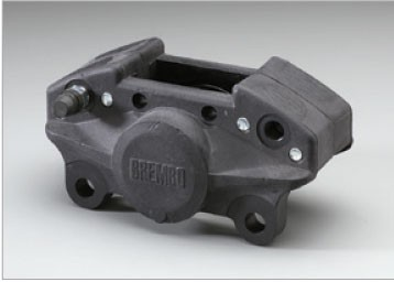 "BREMBO 2 PISTON CAST BLACK UNIVERSAL CALIPER. NO PADS. 88.9mm (3.50"") LUGS. (NOTES) image"