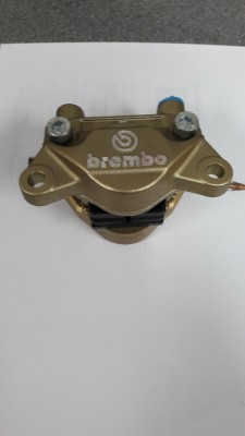 BREMBO REAR CALIPER 2X32 GOLD P2 X 32 DUCATI 84mm TOP MOUNT image