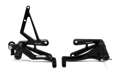 VALTER MOTO T1 FIXED REARSETS SV650S 99-02 IN BLACK image