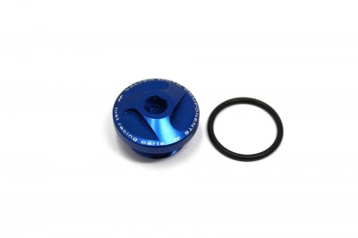 VALTER MOTO EXTREME OIL FILLERCAP IN BLUE FOR YAMAHA image