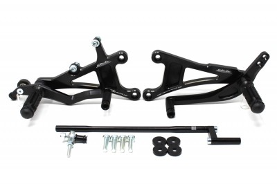 VALTER MOTO T1 FIXED REARSETS YZF-R1 02-03, IN BLACK image
