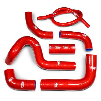 SAMCO SILICONE HOSE KIT RED DUCATI 749R 2004-07 / 999R/S 2005-06  7 PIECE KIT image