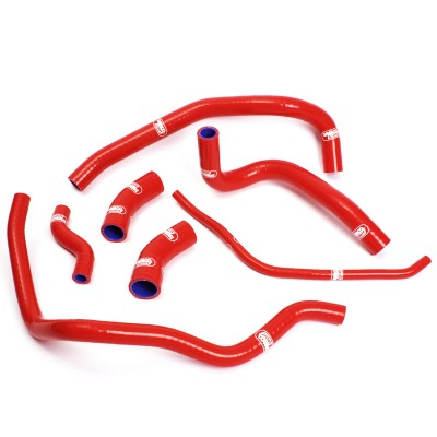 SAMCO SILICONE HOSE KIT RED YAMAHA VMAX 1200 ALL YEARS 7 PIECES image