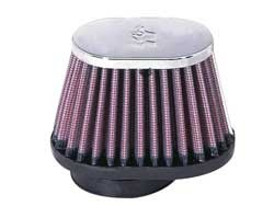 K&N UNIVERSAL CLAMP-ON FILTER OVAL 51MM image