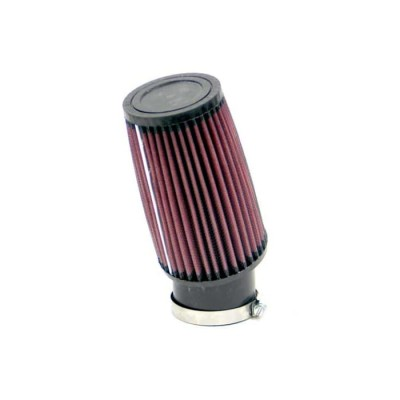 K&N UNIVERSAL CLAMP-ON ROUND TAPERED AIR FILTER 62MM INLET ANGLED FLANGE image