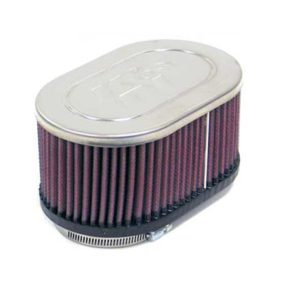 K&N UNIVERSAL CLAMP-ON FILTER DUAL FLANGE 54MM 79MM C/C image