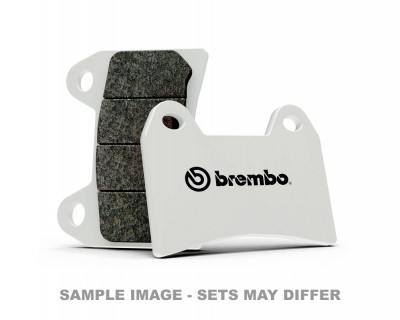 BREMBO SINTERED BRAKE PADS LONG LIFE ROAD, WHITE BACKING, (PER CALIPER) image
