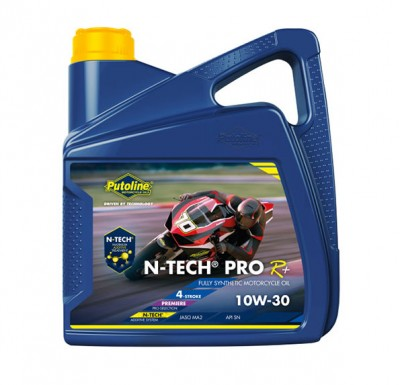 PUTOLINE 4 LITRE N-TECH PRO R+10W/30 OIL 100% SYNTHETIC JASO MA2, API SM. image