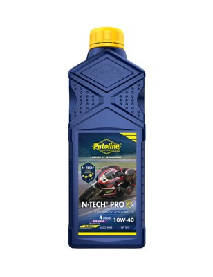 PUTOLINE 1 LITRE N-TECH PRO R+10W/40 OIL 100% SYNTHETIC JASO MA2, API SM. image