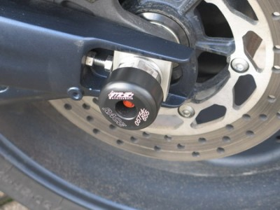 1 PAIR GSG REAR AXLE SLIDERS, YAMAHA MT-01 image