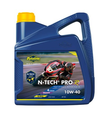 PUTOLINE N-TECH PRO R 10W/40 OIL 100% SYNTHETIC   (WSHOP) JASO MA2, API SM.  (74310) image