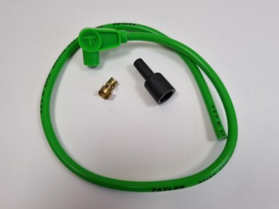 TAYLOR 8MM HT LEAD GREEN, SHORT 90 DEGREE BOOT TYPE, PRICED INDIVIDUALLY image