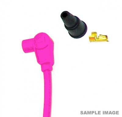 TAYLOR 8MM HT LEAD PINK, SHORT 90 DEGREE BOOT TYPE, PRICED INDIVIDUALLY image
