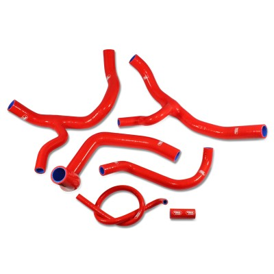 SAMCO SILICONE HOSE KIT RED HONDA CBR1000RR 2012-20 Y-PIECE DESIGN  6 PIECE KIT image